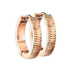 Ohrring zum Klappen rosegold gerillt aus Edelstahl Piercing, Star Wars, Gold, Bracelets, Jewelry, Studs, Stainless Steel, Ear Rings, Jewlery