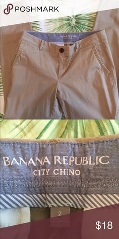 Banana Republic City Chinos These have been washed but were never worn. Was hoping they would eventually fit. Banana Republic Pants Straight Leg