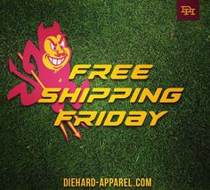 #Magnificent #FreeShippingFriday Exclusive NCAA Licensed T's By Sun Devils, For Sun Devils. DieHard-Apparel.com