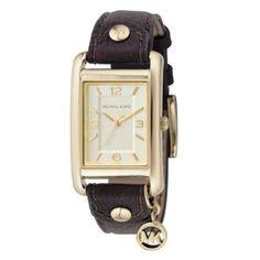 Charm Chocolate Leather Strap Watch