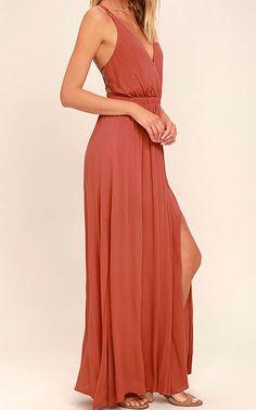 Lost In Paradise Rusty Rose Maxi Dress via @bestchicfashion
