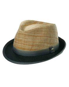 Tommy Bahama two tone raffia hat