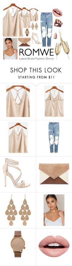 """Bez naslova #38"" by sejlabrkic ❤ liked on Polyvore featuring Topshop, Steve Madden, Irene Neuwirth, Komono and Nevermind"