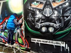 Upfest day 2. The guys at Vector Seating carpark just getting started