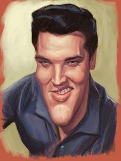 Elvis Presley celebrity-caricatures