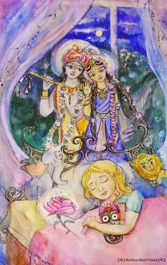 I absolutely loooove everything about this illustration!  this is soooo me practically every single night  hare krishna