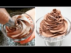 Crema Chantilly De Ciocolata. Chantilly De Chocolate receta facil. - YouTube Candy Bar Cookies, Cookie Bars, Baking Videos, Chocolate Recipes, Macarons, Icing, Cooking Recipes, Easy Recipes, Peanut Butter
