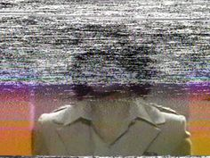 VHS color to b/w noise
