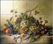 FlekmanArt Fruits Bouquet by Corrado Pila - Art Ceramic Tile Mural W x H Tiles) Kitchen Shower Bath Backsplash Pool Mosaic Tiles, Garden Tiles, Kitchen Art, Kitchen Backsplash, Backsplash Ideas, Tile Ideas, Kitchen Shower, Tile Murals, Tile Art