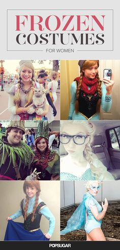 Anna and Elsa Costume Ideas For a Frozen Halloween (for adult women)