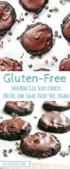 Healthy Girl Scout Thin Mint Cookie Recipe {Gluten-Free, No Oil, Refined Sugar-free, Low-sugar, Dairy-free & Vegan} Only 115 calories a cookie!