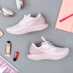 The Nike Epic React Flyknit Women's Running Shoe is a highly comfortable shoe that provides support and cushioning for any length of run.