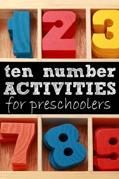 If you're looking for activities to get your preschooler excited about counting, but don't want to spend a fortune on toys and electronic gadgets, this collection of number activities is just what you need!