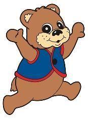 Cubbie Bear Print Out For Bulletin Board