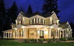 I so want a wrap around porch someday.
