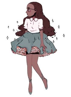 I want to sew a skirt like that on this little miss Connie in the fan art from SU