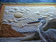 quilting designs for s sky - Yahoo Search Results Machine Quilting Patterns, Quilt Patterns, Free Motion Quilting, Longarm Quilting, Hand Quilting, Landscape Art Quilts, Landscapes, Quilting Projects, Quilting Ideas
