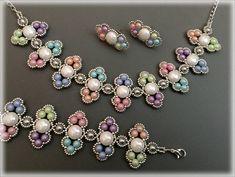 Fashion Jewelry Necklaces, Bead Jewellery, Jewelry Making Beads, Bead Earrings, Bracelet Making, Beaded Necklace, Beaded Bracelets, Beaded Jewelry Patterns, Beading Patterns