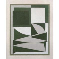 Ezinor - tahta 38x30cm Victor Vasarely 1949 Yağ