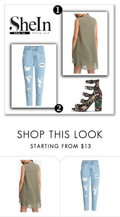 """""""Shein"""" by marijaprusina ❤ liked on Polyvore featuring Topshop"""