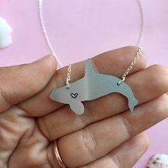 Shachi Orca Metal Necklace Orcinus Orca Killer Whale