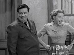 Jackie Gleason and Audrey Meadows in The Honeymooners.