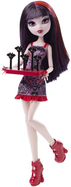 Check out the Monster High® Tall Freak Du Chic™ Gooliope Jellington™ Doll at the official Mattel Shop website. Explore the world of Monster High today! Ever After High, Little Doll, My Little Pony, Howleen Wolf, Personajes Monster High, Mattel Shop, Purple Highlights, Monster High Dolls, Doll Accessories