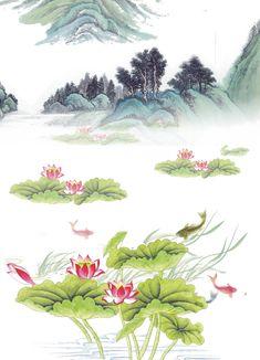 Flower Branch, Pattern Art, Landscape Paintings, Digital Prints, Ethnic, Folk, Wallpapers, Content, Texture