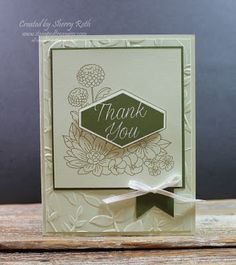 "Sherry""s Stamped Treasures: Stampin' Up!'s Accented Blooms - Thank You"
