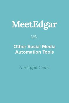 How is Edgar different from the other social media scheduling apps out there? We've put together this handy dandy chart to help explain. Social Media Scheduling Tools, Social Media Automation, Social Media Apps, Social Networks, Internet Marketing, Online Marketing, Social Media Marketing, How To Start A Blog Wordpress, Blog Writing