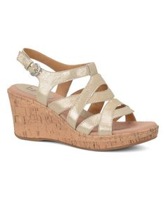This Cream Met Chyna Leather Wedge by b.o.c is perfect! #zulilyfinds