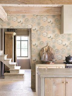 Downton Abbey Wallpaper from Hertex Fabrics