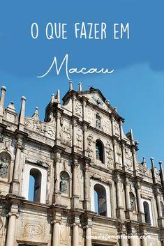 Dicas do que fazer em Macau, na China.  Foto das Ruínas da Igreja de São Paulo.  #macau #ruinas #china #asia Macau, Asia, We Are The World, Travel Guides, Notre Dame, Traveling By Yourself, 1, Camping, Mansions