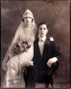 1917 May Harry Claras Wedding Original Studio Photograph VG | eBay