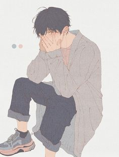 Art Manga, Manga Boy, Manga Anime, Arte Emo, Arte Indie, Poses Anime, Fan Art Anime, Animé Fan Art, Art Mignon