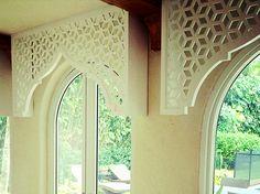"""""""Moroccan"""" style valances can add architecture details to ANY window. - """"Moroccan"""" style valances can add architecture details to ANY window. Design Marocain, Style Marocain, Morrocan Decor, Moroccan Bathroom, Moroccan Lanterns, Arabic Decor, Islamic Decor, Design Studio, House Design"""