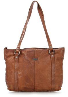 Dakota Handtasche Leder braun 35 cm