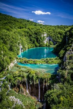 Beautiful view, National park Plitvice lakes in Croatia...