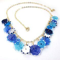 SariGlassman  Lampwork necklace  Handmade Glass by gaialai on Etsy, $62.00