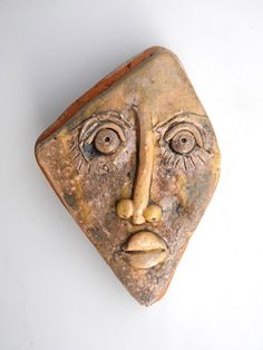 Ceramic Head Sculpture of head Head of porcelain Wall by 99heads, $29.99