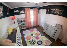 Navy and Coral Nursery - Wainscoting with navy walls. Navy is the new neutral! #projectnursery