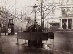 "Charles Marville, (French, 1813–1879). Urinal, Jennings System, plateau de l'Ambigu, 1876. Musée Carnavalet, Paris. © Musée Carnavalet / Roger-Viollet  | This photograph is featured in ""Charles Marville: Photographer of Paris,"" on view through May 4, 2014. #paris"