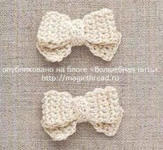 strikje gehaakt -  ribbon crochet free pattern