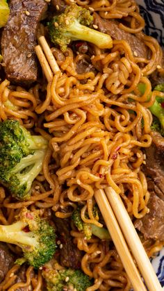 The popular Chinese restaurant beef and broccoli stir fry gets a delicious twist with ramen noodles, in this fantastic quick and easy 30 minute dinner recipe! Asian Noodle Recipes, Asian Recipes, Beef Recipes, Cooking Recipes, Healthy Recipes, Recipes With Ramen Noodles, Easy Ramen Recipes, Healthy Food, Ethnic Recipes
