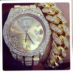 Silver and gold rolex