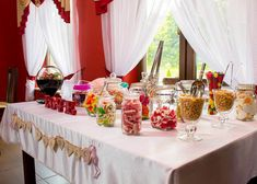 Wedding Jars, Wedding Candy, Sweet Carts, Sweets Cake, Candy Buffet, Preserves, Table Decorations, Home Decor, Preserve
