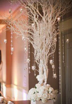 Árbol con colgantes de cristal - Ámbar Muebles