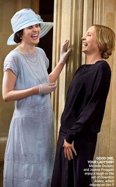 ~Behind the scenes. Downton Abbey series 4, Lady Mary and Anna~