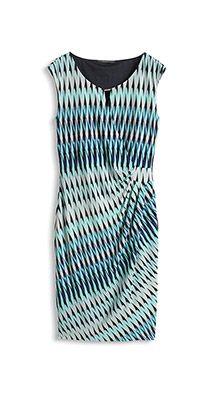 printed stretch jersey dress