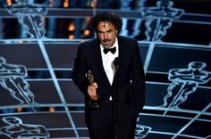 "Alejandro Gonzalez Inarritu accepts the Best Director Award for Birdman. ""For someone to win, someone has to lose - but true art, true individual expression cannot be compared. Our work, as always will be judged by time,"" he said during his acceptance speech."